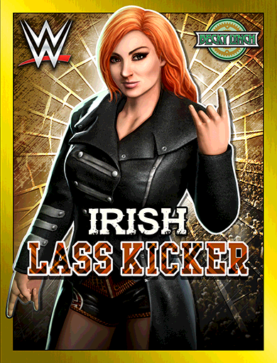 Becky Lynch 'Irish Lass Kicker'