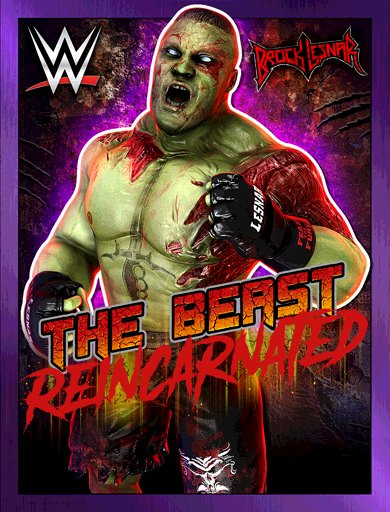Brock Lesnar 'The Beast Reincarnated' Poster